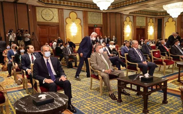 وزير الاتصالات خلال فعاليات اطلاق الكتالوج الإلكتروني للمنتجات المصرية