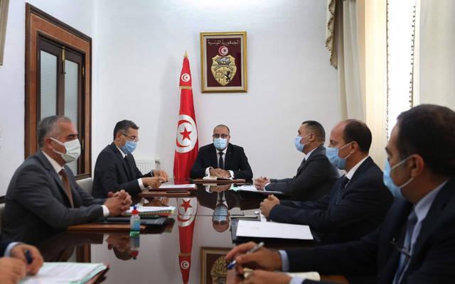 جانب من اجتماع رئيس الحكومة بالقيادات الأمنية العليا