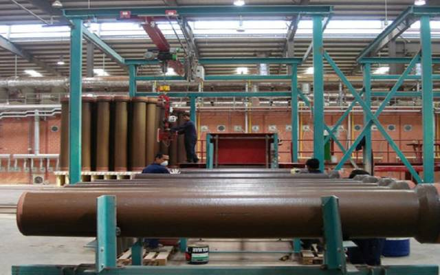 مصنع تابع للشركة السعودية لإنتاج الأنابيب الفخارية