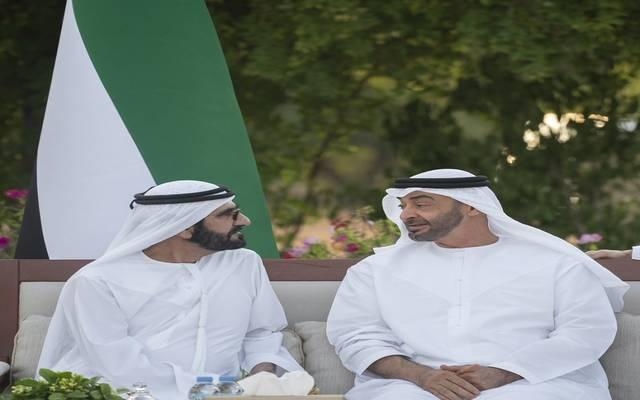 الشيخ محمد بن راشد والشيخ محمد بن زايد في قصر الوطن