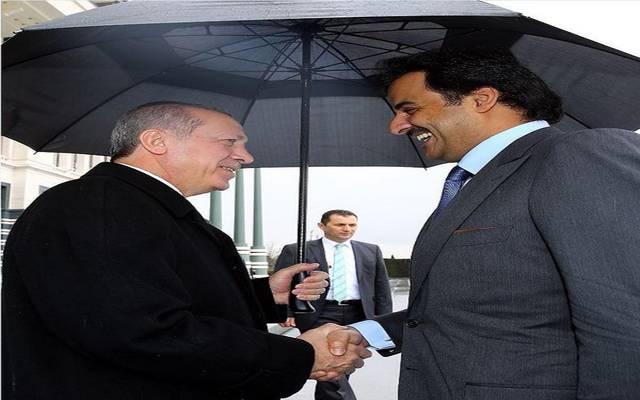 صورة من لقاء سابق بين الرئيس التركي والأمير تميم