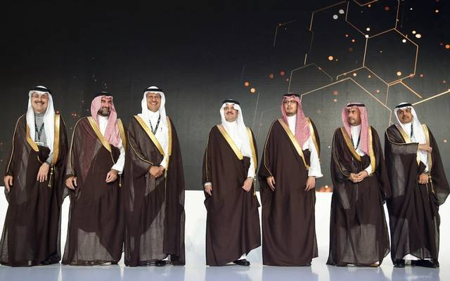 أمير المنطقة الشرقية الأمير سعود بن نايف بن عبد العزيز، ووزير الطاقة الأمير عبدالعزيز بن سلمان وقيادات أرامكو خلال منتدى اكتفاء 2020
