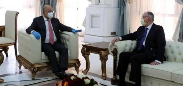 رئيس الجمهورية برهم صالح و وزير المالية علي عبد الأمير علاوي