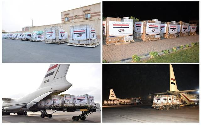 السيسي يوجه بفتح جسر جوي لإرسال المساعدات لمتضرري السيول في دولتي السودان