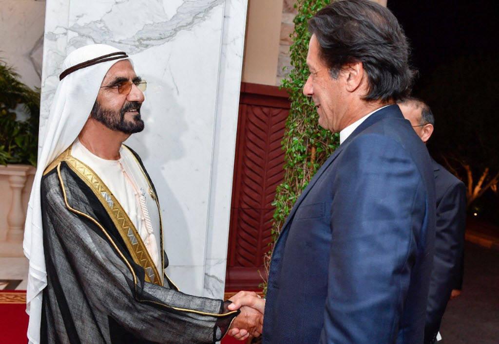 """صور.. استقبال """"محمد بن راشد"""" لرئيس وزراء باكستان"""