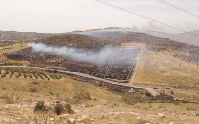 صورة للحريق