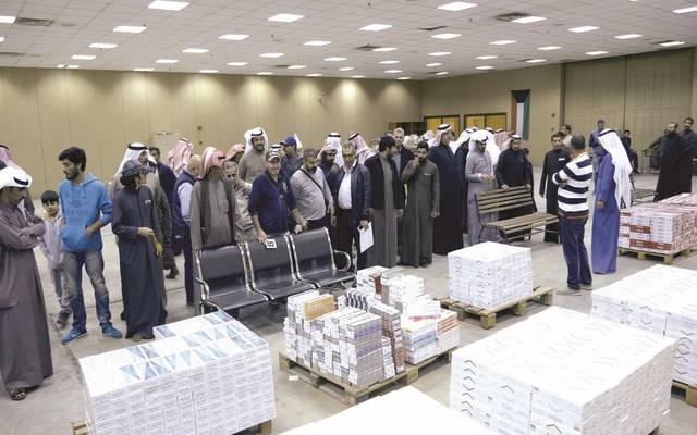 مزاد على سجائر في الكويت