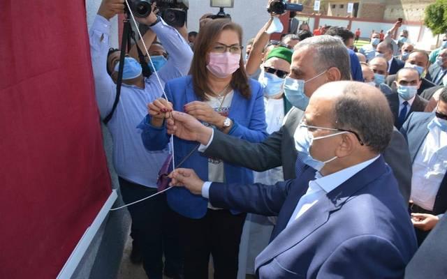 وزيرة التخطيط خلال زيارتها لمحافظة سوهاج اليوم الأربعاء