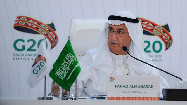"""محافظ البنك المركزي السعودي """"ساما""""، فهد عبدالله المبارك- أرشيفية"""