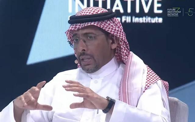 """وزير الصناعة والثروة المعدنية السعودي بندر الخريف خلال """"مبادرة مستقبل الاستثمار"""""""