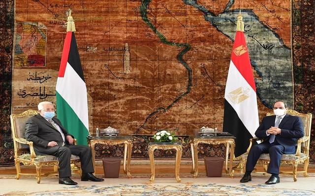 خلال لقاء الرئيس السيسي مع نظيره الفلسطيني محمود عباس