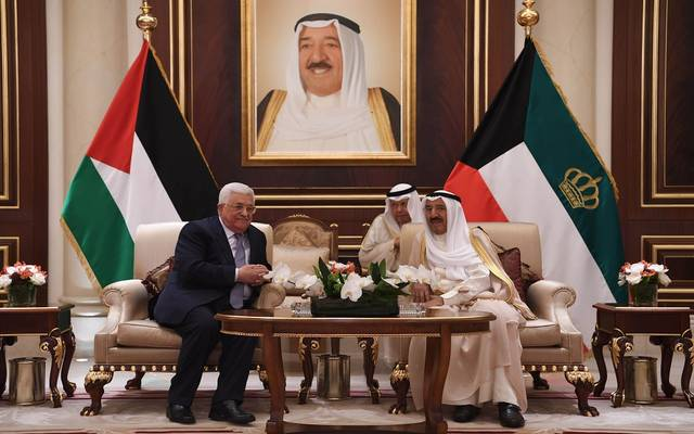 لقاء سابق بين أمير الكويت والرئيس الفلسطيني