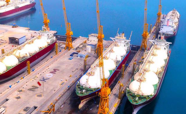 أحد مشروعات ناقلات قطر