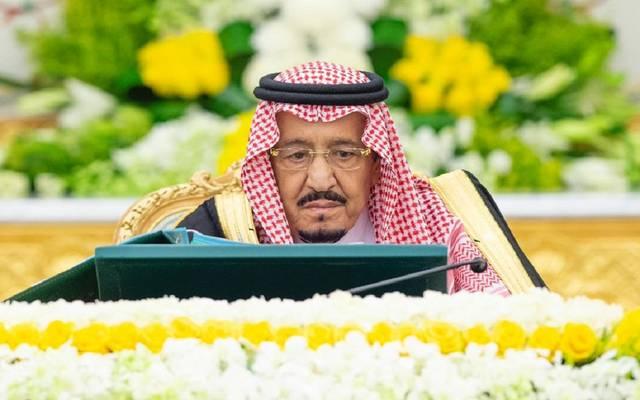 خادم الحرمين الشريفين الملك سلمان بن عبد العزيز خلال اجتماع مجلس الوزراء