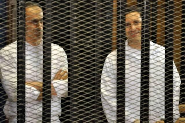 Alaa and Gamal Mubarak have denied any wrongdoing