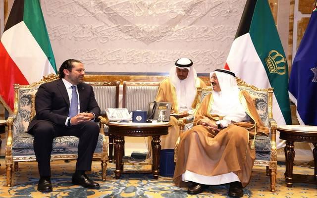 لقاء سابق بين أمير الكويت ورئيس وزراء لبنان