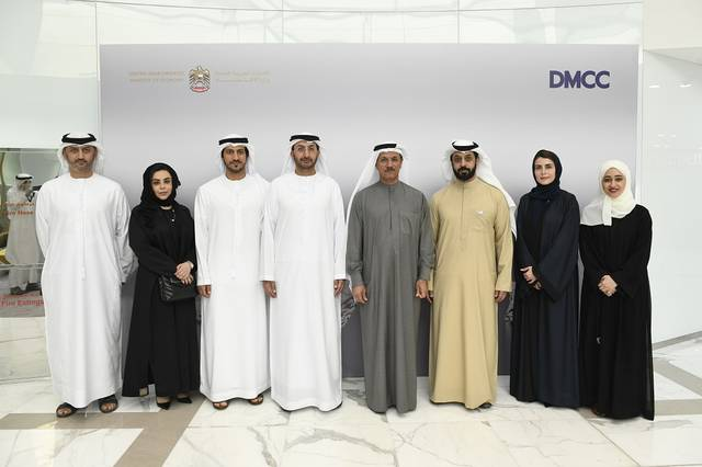 The Ministry of Economy delegation visiting DMCC