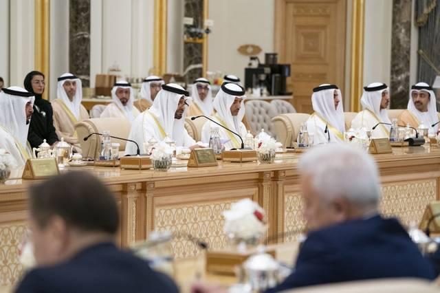 جانب من المحادثات الروسية الإماراتية اليوم