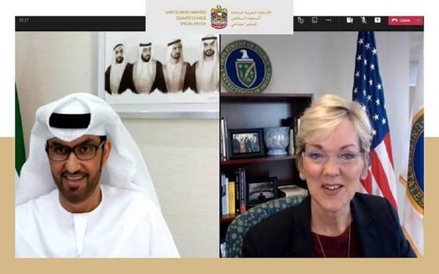 وزير الصناعة الإماراتي ووزيرة الطاقة الأمريكية
