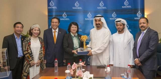The talks were held at the headquarters of Nakheel in Dubai