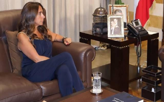 زينة عكر - وزير الدفاع اللبنانية
