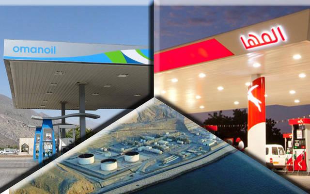 محطات معالجة الغاز بشركة مسندم للطاقة وتسويق المنتجات النفطية للشركتين المها والنفط العمانية للتسويق