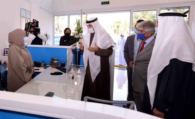 جانب من افتتاح الفرع الجديد لبيت الأسرة للتمويل متناهي الصغر (بنك الأسرة سابقاً) في البحرين