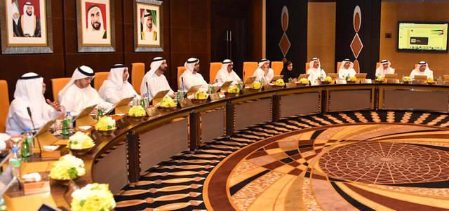 اجتماع سابق لمجلس الوزراء الإماراتي