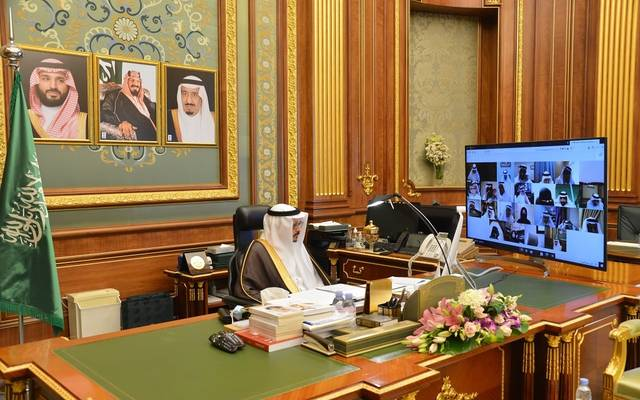 جانب من الجلسة العادية الـ57 للسنة الرابعة من الدورة السابعة لمجلس الشورى السعودي برئاسة نائب رئيس المجلس عبدالله المعطاني