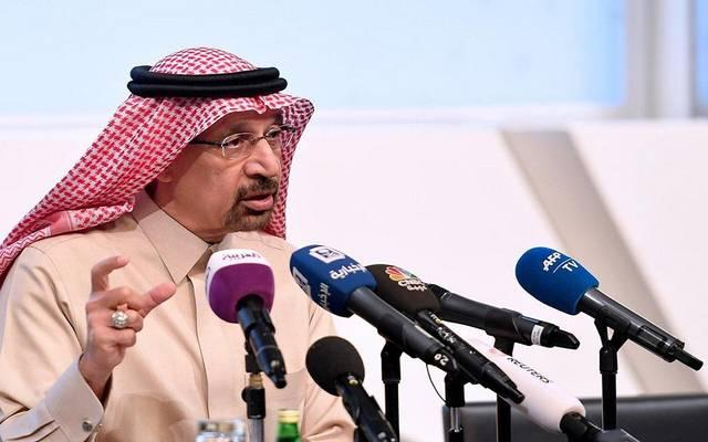 وزير الطاقة السعودي خالد الفالح خلال مؤتمر سابق- أرشيفية