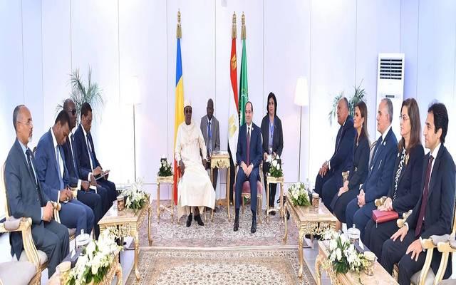 خلال لقاء الرئيس السيسي بنظيره التشادي