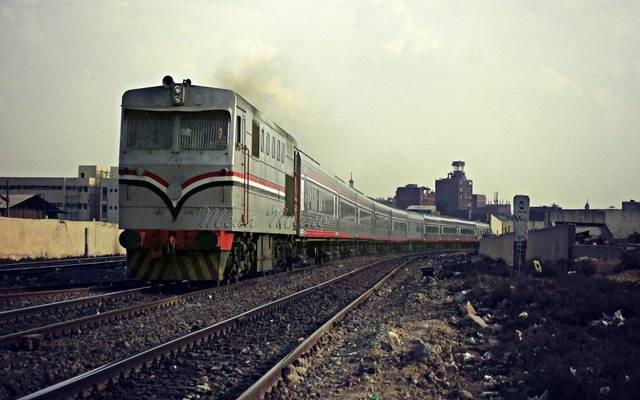 أحد قطارات السكة الحديد بمصر