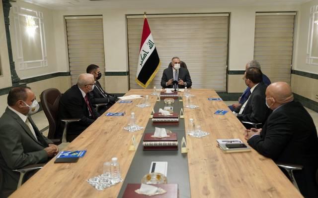رئيس مجلس الوزراء العراقي، مصطفى الكاظمي، يلتقي أعضاء فريق تقصي الحقائق