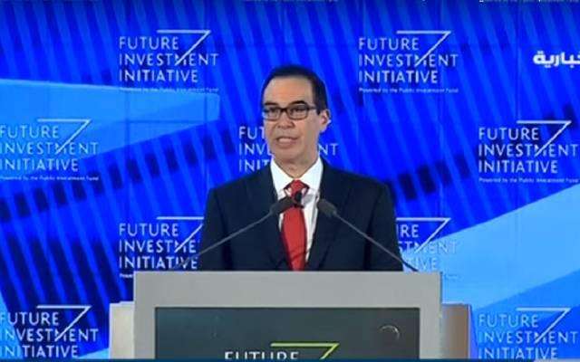 """وزير المالية الأمريكي:""""نيوم"""" مثير للإعجاب..وولي العهد يقود السعودية لمستقبل مشرق"""