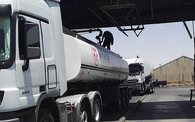 إحدى الشاحنات بأسطول شركة مصفاة البترول الأردنية