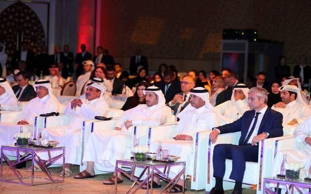 خلال مؤتمر إنشاء المنطقة السحابية بحضور رئيس مجلس الوزراء القطري عبد الله بن ناصر بن خليفة، وجان فيليب كورتوا رئيس شركة مايكروسوفت للمبيعات العالمية