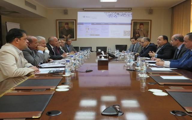 وزيرا المالية محمد معيط والنقل كامل الوزير في اجتماع مشترك