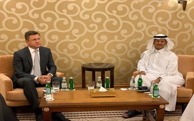 خلال لقاء وزير الطاقة السعودي الجديد مع ألكسندر نوفاك