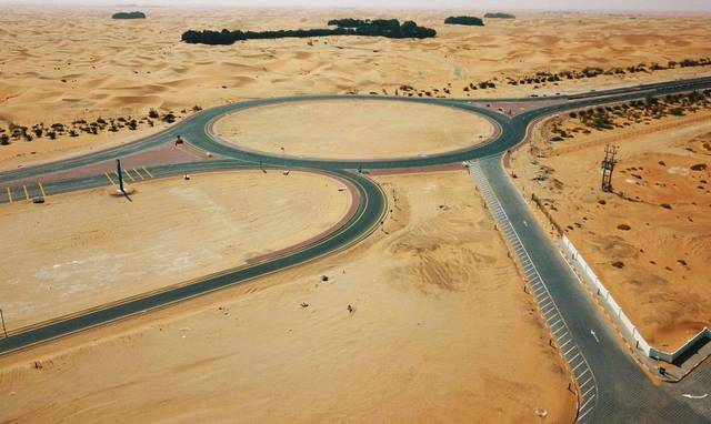The road was constructed at a total cost of approximately AED 40 million