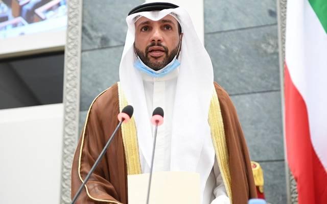 رئيس مجلس الأمة الكويتي، مرزوق علي الغانم، خلال كلمته أمام البرلمان