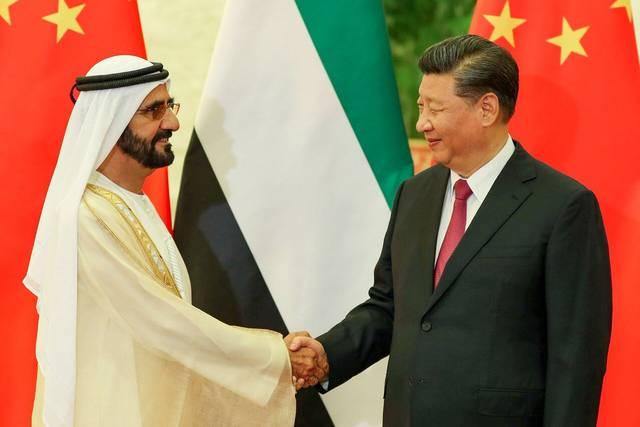 بالصور.. مشاركة محمد بن راشد في فعاليات القمة الاقتصادية بالصين