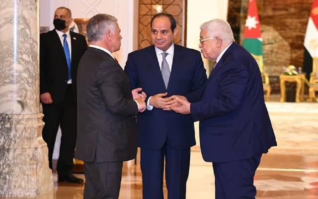 السيسي ومحمود عباس وملك الأردن خلال القمة