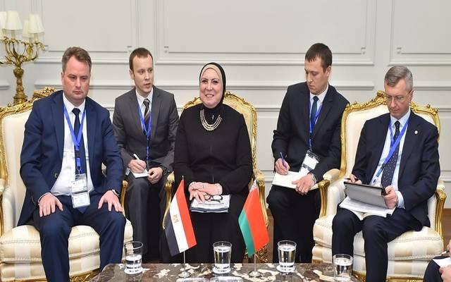 خلال اجتماع عقدته وزيرة الصناعة المصرية مع وزير التجارة البيلاروسي
