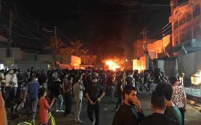 وكالة: محتجون يقتحمون القنصلية الإيرانية في مدينة البصرة العراقية