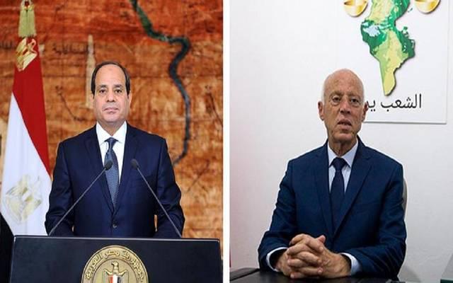 الرئيس التونسي قيس سعيد - الرئيس المصري عبدالفتاح السيسي