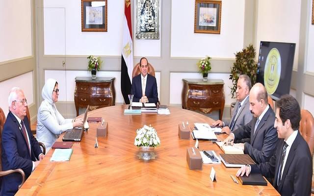اجتماع السيسي اليوم مع وزيرة الصحة  ورئيس الرقابة الإدارية ومحافظ بورسعيد