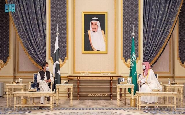 ولي العهد السعودي ورئيس وزراء باكستان