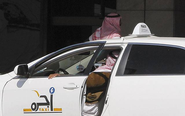 إحدى سيارات التاكسي بالسعودية