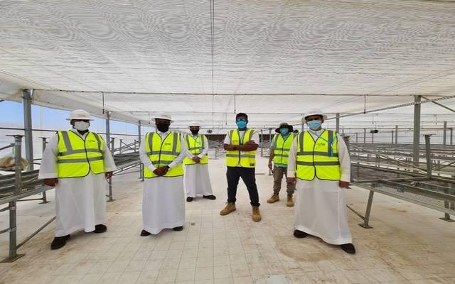 أعضاء فريق قادة الاستدامة التابعين لمشروع شركة البحر الأحمر للتطوير بالسعودية