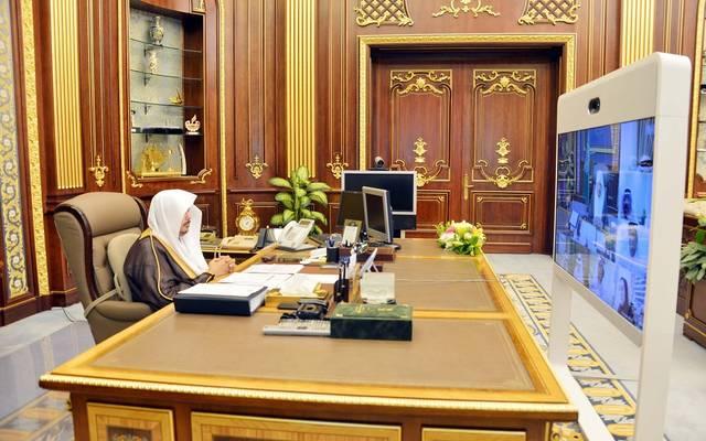 جلسة سابقة لمجلس الشورى السعودي عن بُعد برئاسة رئيس المجلس، عبدالله آل الشيخ
